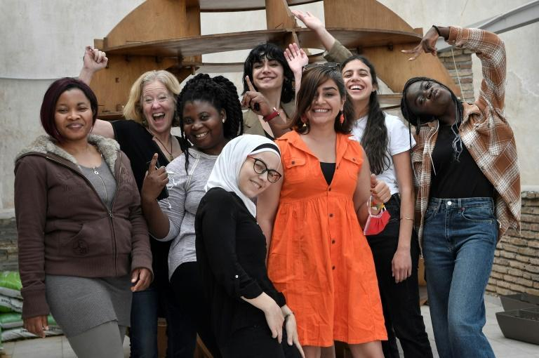 Women refugees from Congo, Syria, Afghanistan and Iran are being taught digital media and journalism skills