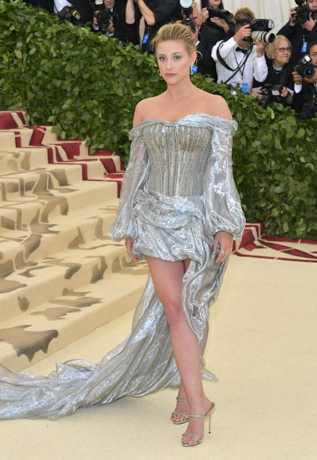 <p>Reinhart attended her first Met Gala, wearing H&M. (Photo: Getty Images) </p>