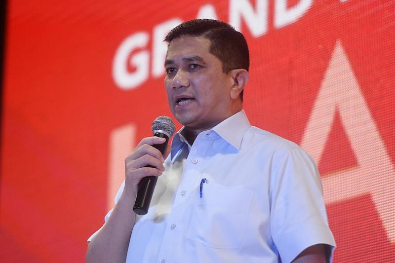 Azmin said MCA's pledge to serve as a check and balance on the Pakatan Harapan government fell flat in light of their past conduct. — Picture by Azinuddin Ghazali
