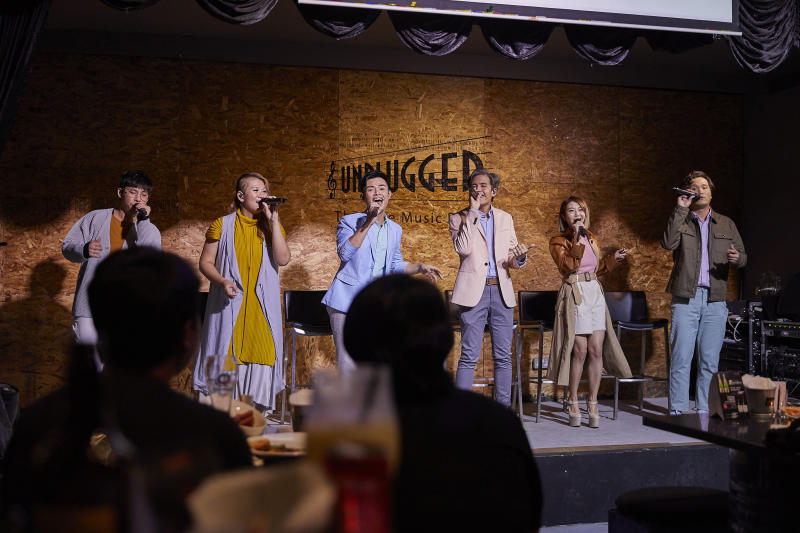 MICappella performing their new songs at Unplugged on 27 Nov. (PHOTO: Universal Music Singapore)