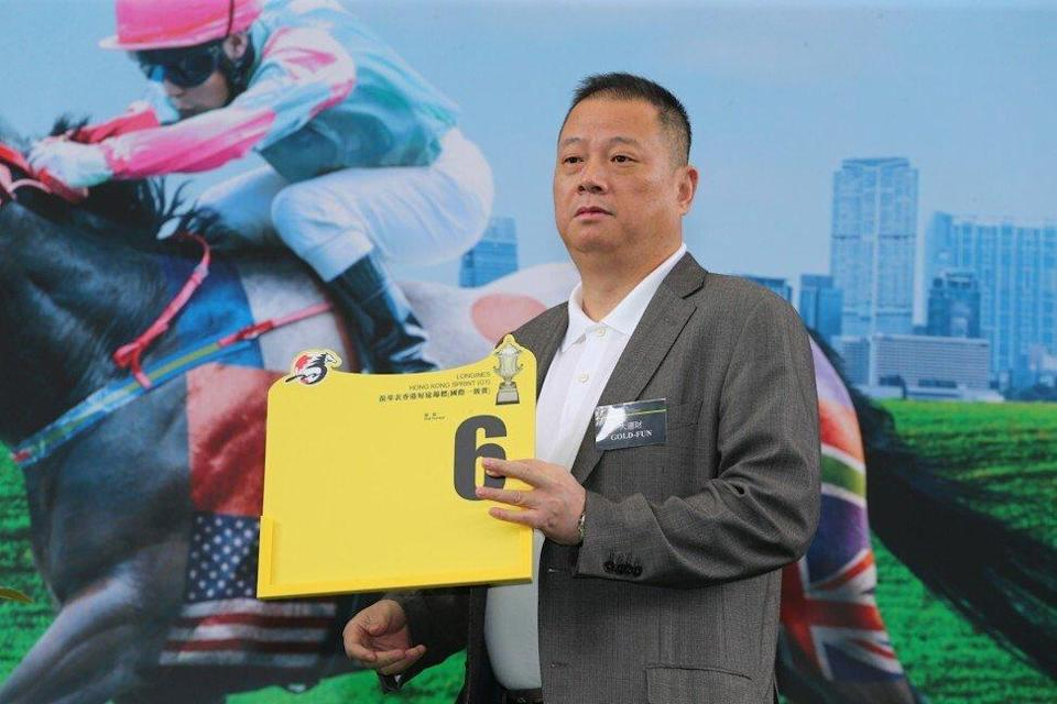 Pan Sutong during the HK Sprint Gold-Fun horse race at the Sha Tin Parade Ring on December 10, 2015. Photo: Kenneth Chan