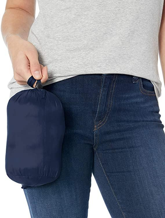 This jacket packs neatly into the included carrying bag with drawstring closure. (Image via Amazon)