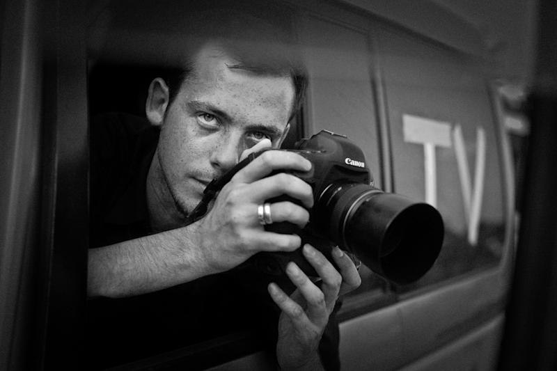 Undated photo of French photographer Remi Ochlik who died Wednesday Feb. 22, 2012 in Homs, Syria. French photojournalist Remi Ochlik and an American journalist Marie Colvin working for a British newspaper were killed Wednesday by Syrian government shelling of the opposition stronghold of Homs, France's government said.(AP Photo/Lucas Dolega)