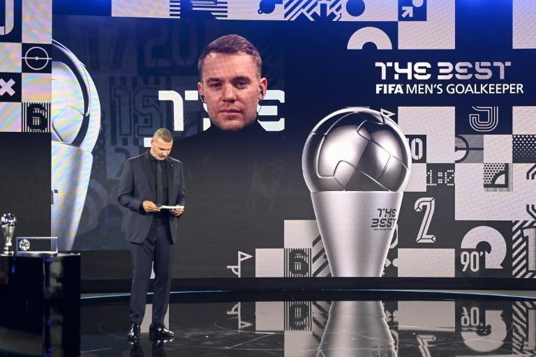 Bayern Munchen's German goalkeeper Manuel Neuer received The Best FIFA Men's goalkeeper award