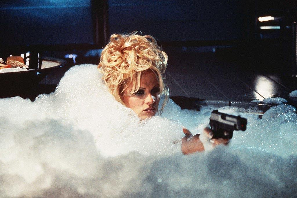 "<a href=""http://movies.yahoo.com/movie/contributor/1800332320"">Pamela Anderson</a>, ""<a href=""http://movies.yahoo.com/movie/1800255867/info"">Barb Wire</a>""<br><br>Based on the Dark Horse comic book of the same name, former Baywatch babe Pamela Anderson adorns little more than some strategically placed bubbles as a bodacious bounty hunter that exposes an illegal cover-up by the government ... in addition to her non-existent acting abilities."
