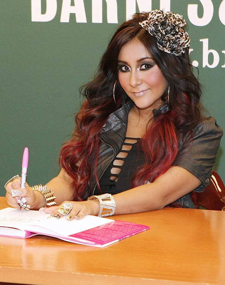 """Bad news, authors who can't get published. """"Jersey Shore"""" star Nicole """"Snooki"""" Polizzi just released her second (yes, second) book, titled <i>Confessions of a Guidette</i>, which teaches readers how to live life like she does. Apparently, plenty of people want to do just that, based on the crowd at her book signing in New York City on Tuesday. Welcome to the end of the world. (10/25/2011)"""