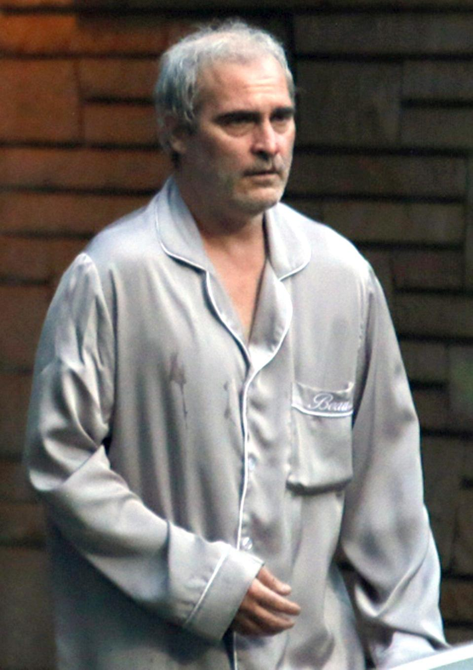 <p>Joaquin Phoenix is spotted filming <em>Disappointment Blvd.</em> in full costume in Montreal, Canada on July 21.</p>