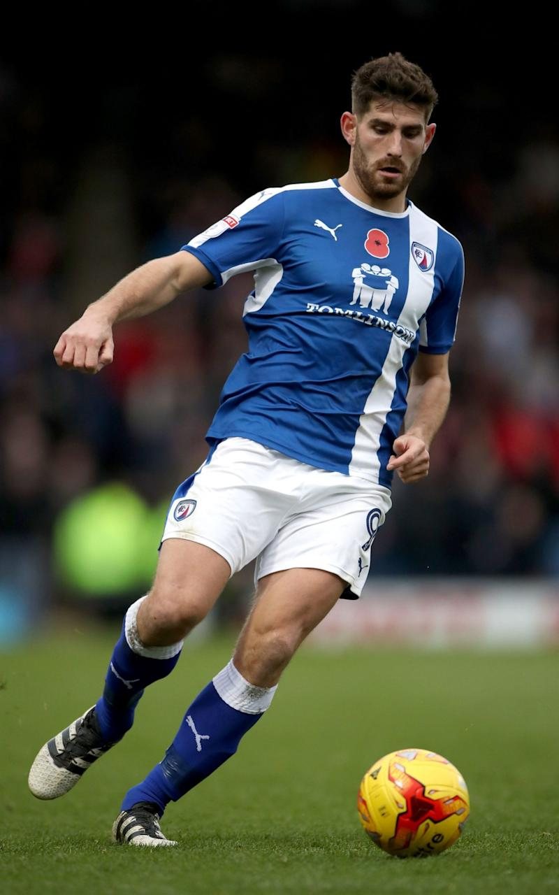 Ched Evans resumed his playing career with Chesterfield - Credit: PA