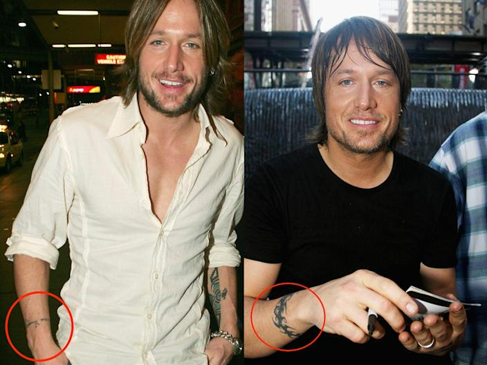 keith urban tattoos skitch