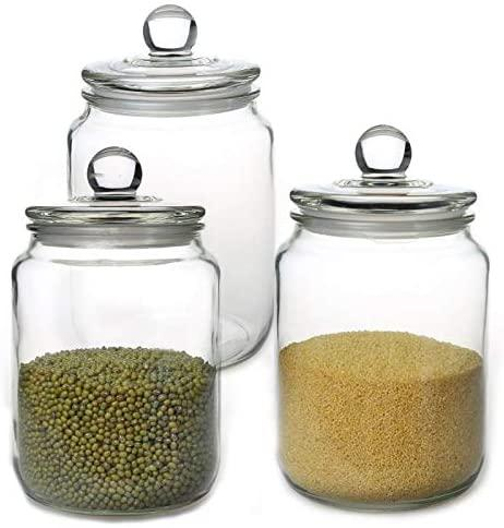 Gorgeous glass jars will pretty things up. (Photo: Amazon)