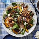 """<p>This hearty salad is another great option to promote restful sleep, due to its melatonin-rich ingredients, like cherries and cheese, according to Healthline. <br></p><p><em><a href=""""https://www.womansday.com/food-recipes/food-drinks/a30394024/roasted-squash-pork-and-kale-salad-with-cherries-recipe/"""" rel=""""nofollow noopener"""" target=""""_blank"""" data-ylk=""""slk:Get the Roasted Squash, Pork, and Kale Salad With Cherries recipe."""" class=""""link rapid-noclick-resp"""">Get the Roasted Squash, Pork, and Kale Salad With Cherries recipe.</a></em></p>"""