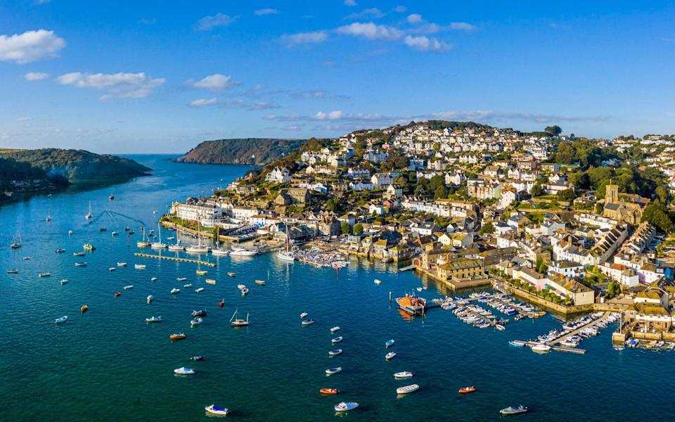 Holiday home hotspot Salcombe in Devon plans to curb the sale of second homes - Getty