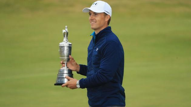 Open champion Spieth drinks from Claret Jug again