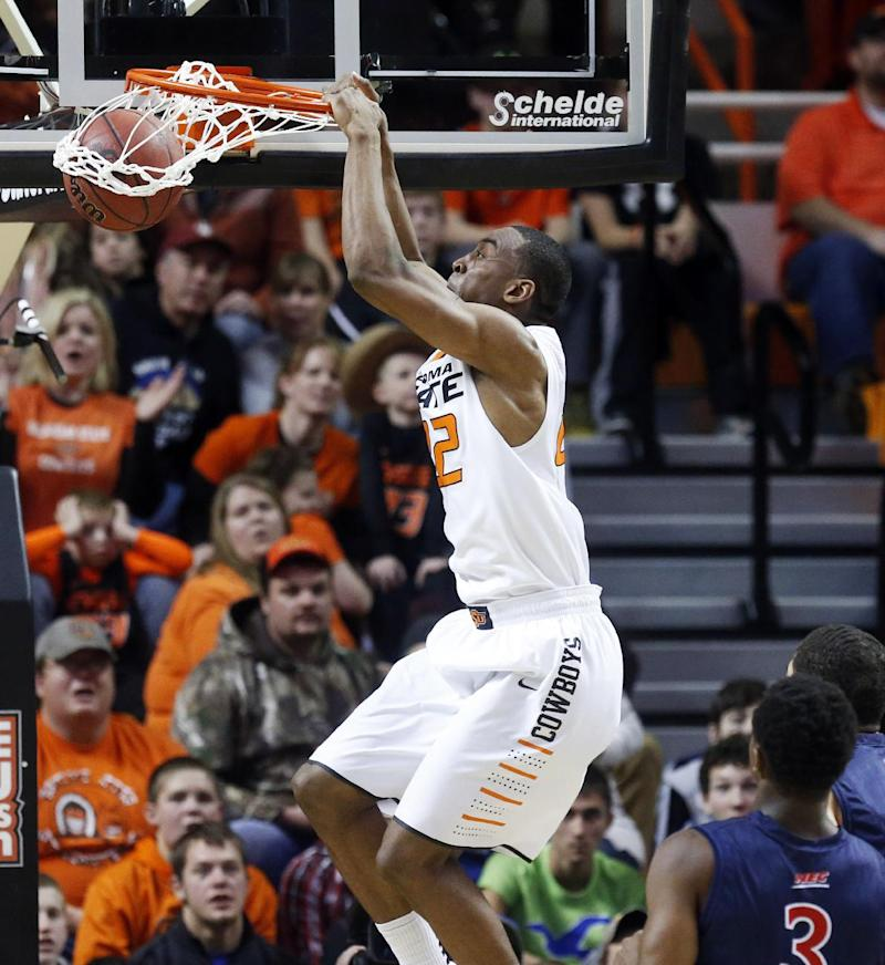 Forte leads Oklahoma St to rout of Robert Morris