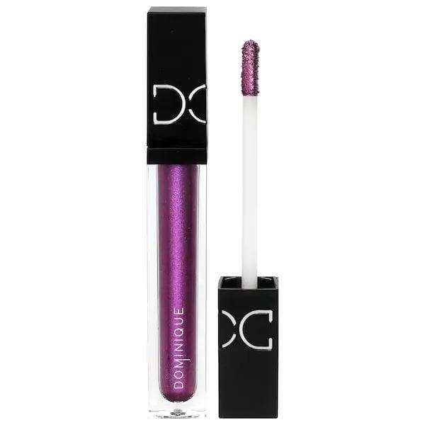 <p>As the most pigmented of them all, this <span>Dominique Cosmetics Beautiful Mess Liquid Eyeshadow in Vibey Vixen</span> ($20) brings a bold purple shimmer (with a hint of pink) that would take a <em>ton</em> of powder shadow in its place.</p>