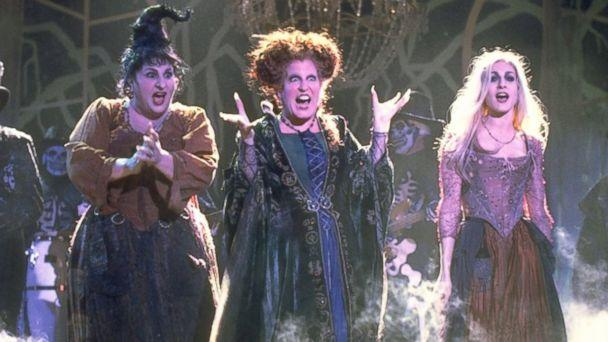PHOTO: The Sanderson Sisters are 17th century witches who were conjured up by unsuspecting pranksters in present-day Salem. (Andrew Cooper/Buena Vista Pictures)