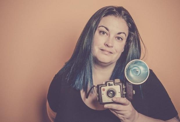 The photographer in her studio: A self-portrait.
