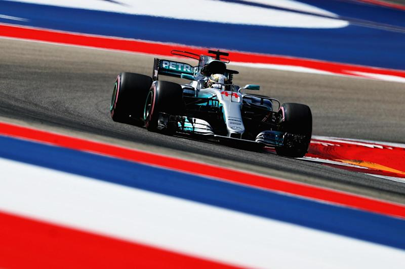 On pole: Lewis Hamilton will be on the front row with Sebastian Vettel: Getty Images