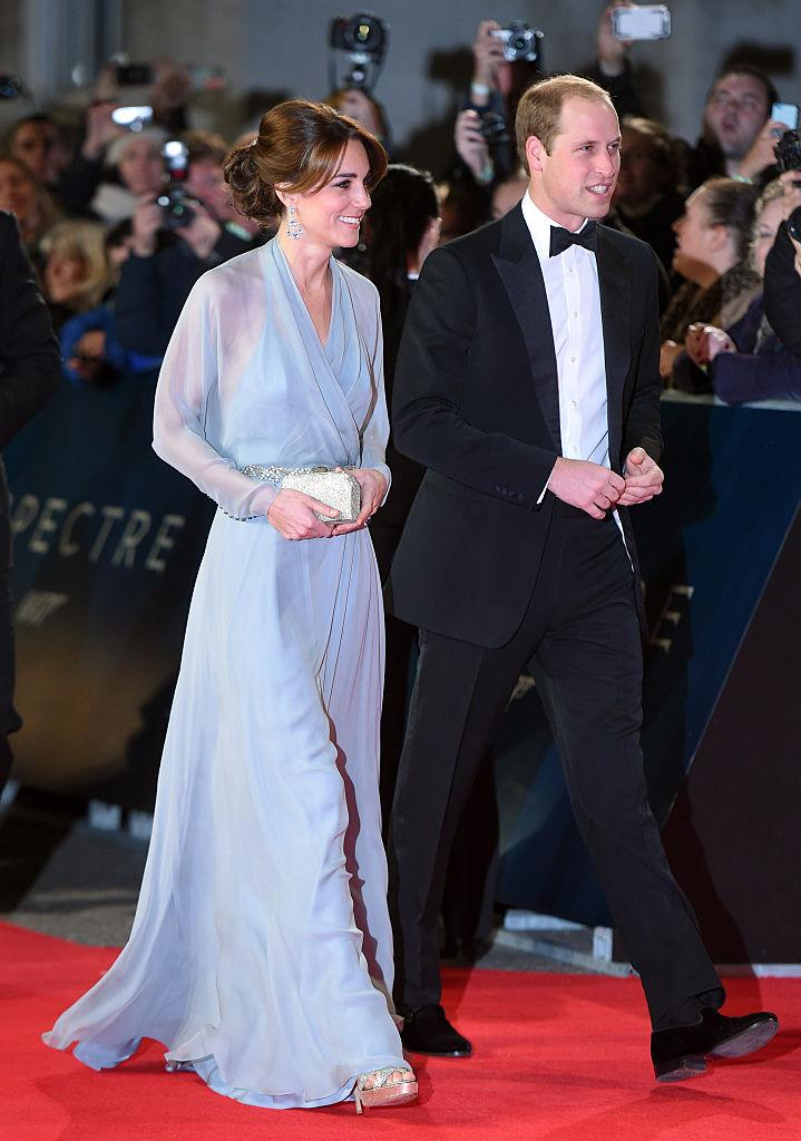 Kate Middleton with Prince William at the 2015 premiere of