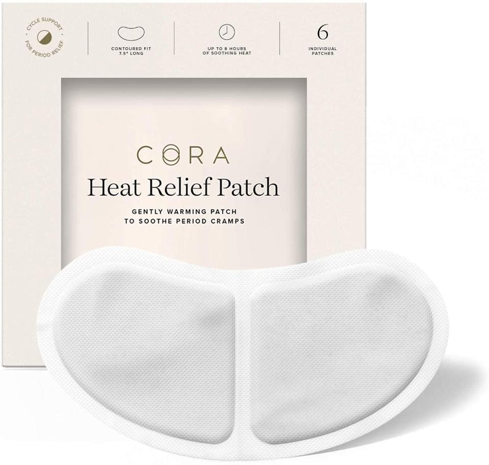 <p>The <span>Cora Heat Relief Patches</span> ($15 for six patches) have a unique contoured design, which allows them to be easily placed on the front or back of underwear, and stay warm for up to eight hours. </p>