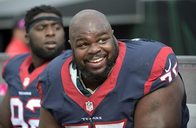 Former Patriots and Texans defensive tackle Vince Wilfork is retiring after 13 NFL seasons. (AP)