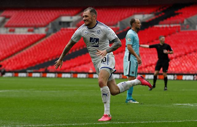 Soccer Football - National League Promotion Final - Tranmere Rovers v Boreham Wood - Wembley Stadium, London, Britain - May 12, 2018 Tranmere Rovers' James Norwood celebrates scoring their second goal Action Images/Matthew Childs