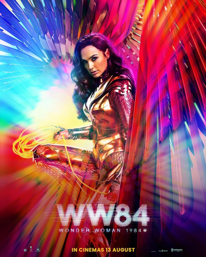 Gal Gadot features on the new poster for <i>Wonder Woman 1984</i>. (Warner Bros,)