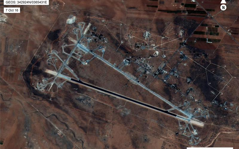 An aerial view of the al-Shayrat Airfield near Homs, Syria - Credit: US DEPARTMENT OF DEFENSE