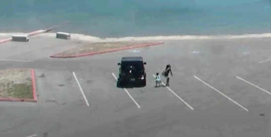 Naya Rivera and Josey walk to boat in CCTV footage