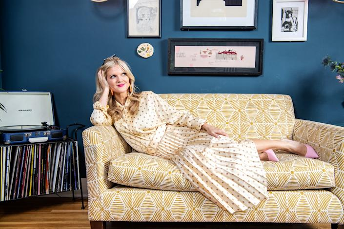 """Arden Myrin at home in Silver Lake. <span class=""""copyright"""">(Mariah Tauger / Los Angeles Times)</span>"""