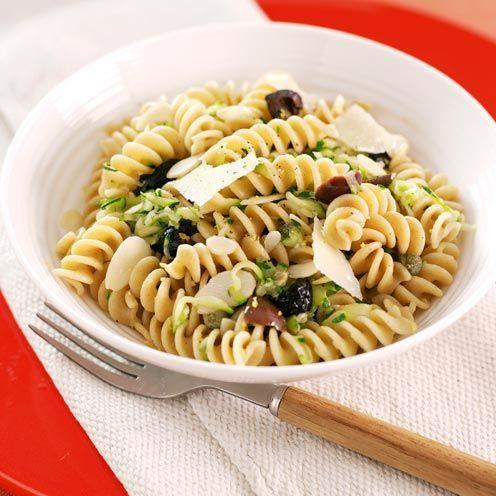 """<p>Almonds, parmesan and parsley give this gorgeous courgette and caper pasta some serious flavour.</p><p><strong>Recipe: <a href=""""https://www.goodhousekeeping.com/uk/food/recipes/a535831/courgette-caper-pasta/"""" rel=""""nofollow noopener"""" target=""""_blank"""" data-ylk=""""slk:Courgette and Caper Pasta"""" class=""""link rapid-noclick-resp"""">Courgette and Caper Pasta</a></strong></p>"""