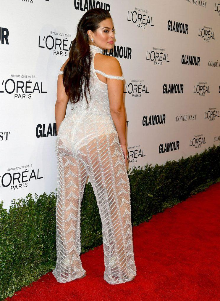 b362279f97b7a A view of Ashley Graham s jumpsuit from the back. (Photo  Getty Images)