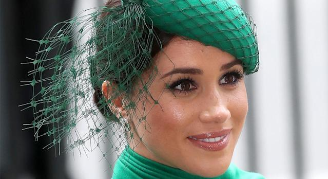 Meghan Markle's go-to Maybelline mascara is now on sale on Amazon, and it has almost 5,000 reviews. (Getty Images)