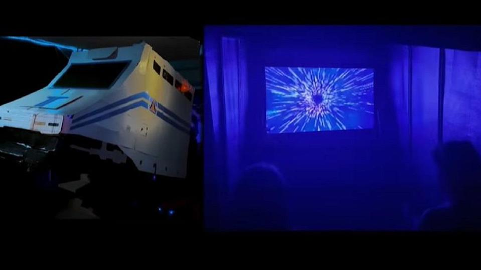 The DIY recreation of the original Star Tours, created for a little girl's 8th birthday party.