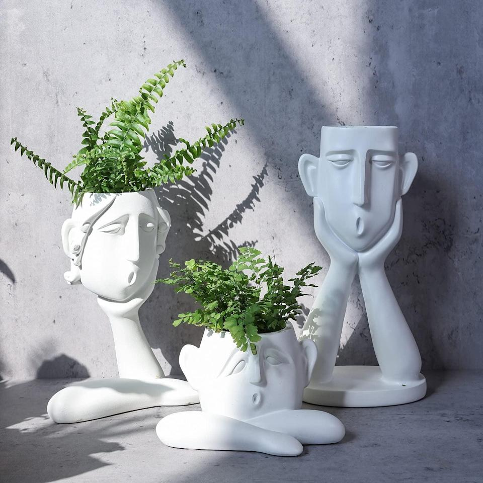 <p>Everyone will ask where you got these <span>Frozzur Irregular Modern Head Busts Planters</span> ($53 for three). It's a statement-making find that will bring an elevated, quirky feel to your decor.</p>