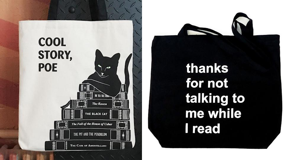 Best gifts for book lovers: Tote bags