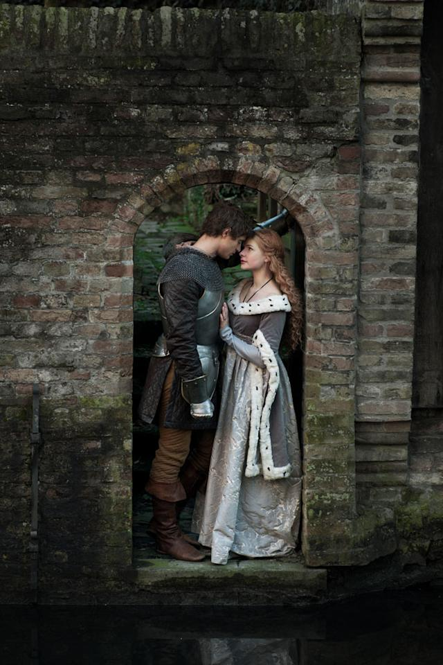 "Max Irons as King Edward and Rebecca Ferguson as Elizabeth Woodville in ""The White Queen"" on Starz."