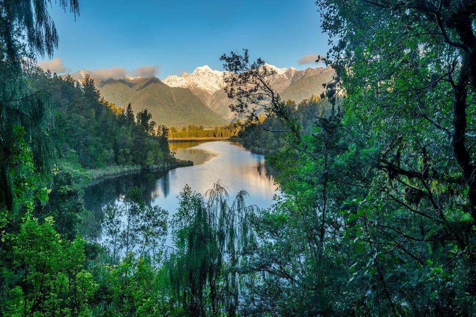 <p>Take some time out of your day to meditate and imagine yourself enjoying a summer day at Lake Matheson.</p>