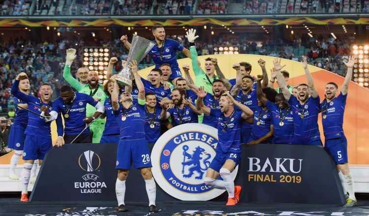 Hazard scores twice as Chelsea thrash Arsenal to win Europa League