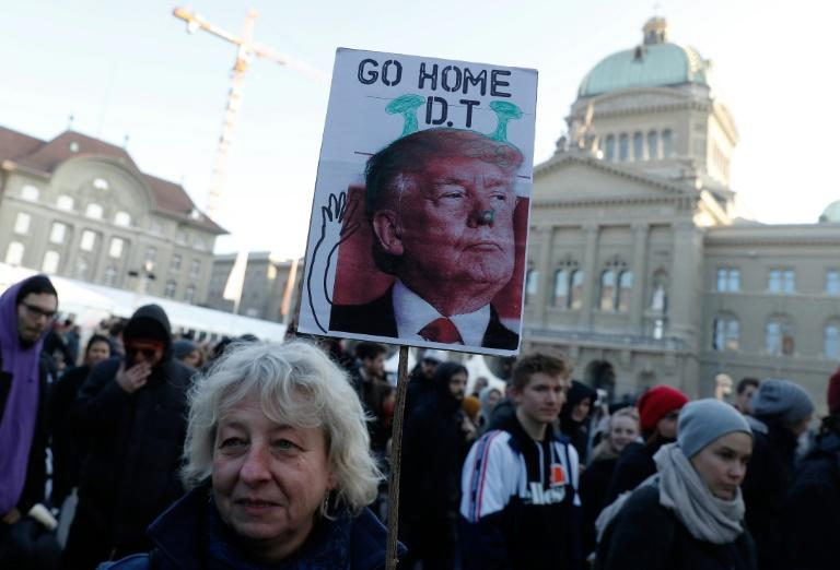 President Trump is expected in Davos on Friday. Swiss authorities are prepared for unauthorised protests against the star turn at this year's World Economic Forum in Davos