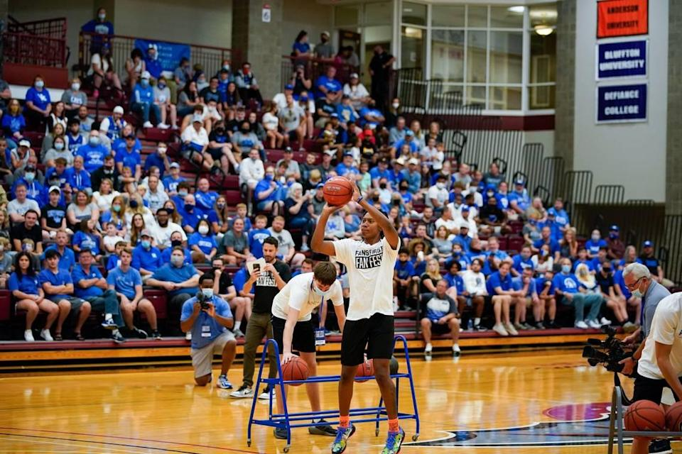 Kentucky's TyTy Washington took a shot at the Fans First Fan Fest at Transylvania University on Saturday.