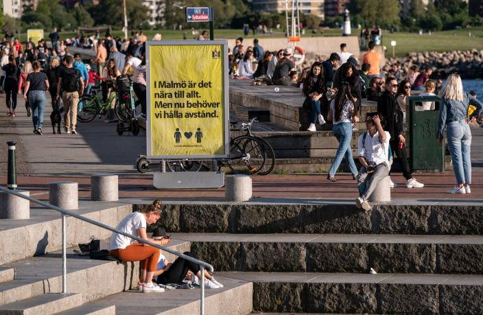 New data shows Sweden has the highest daily COVID-19 death rate per capita in the world. (Getty Images)