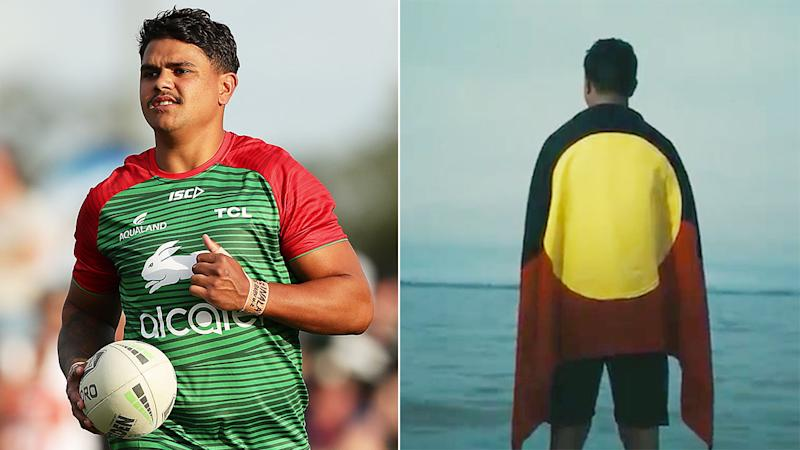 Rabbitohs star Latrell Mitchell featured prominently in the NRL's new ad campaign.