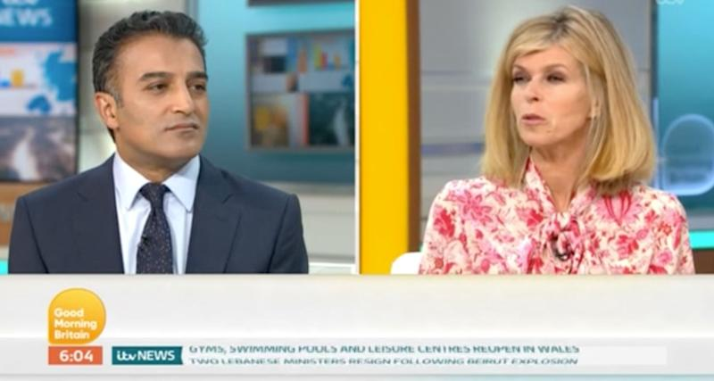 Adil Ray speaks to Kate Garraway on Good Morning Britain (Photo: ITV)
