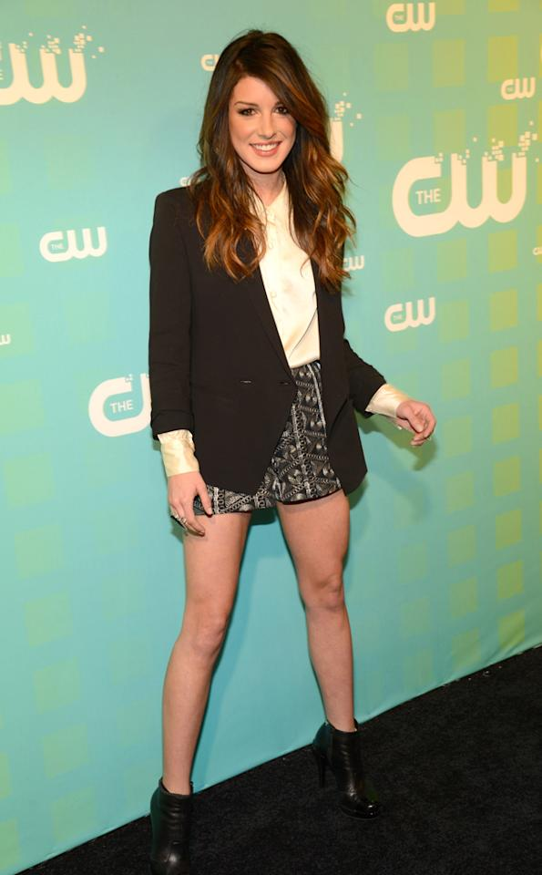 "Shenae Grimes (""90210"") attends The CW's 2012 Upfronts on May 17, 2012 in New York City."