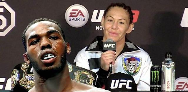 Jon Jones and Cris Cyborg
