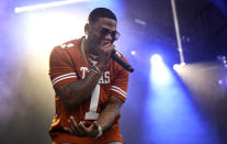 FILE - Nelly performs on day two of the Austin City Limits Music Festival's first weekend on Oct. 6, 2018, in Austin, Texas. Nelly turns 46 on Nov. 2. (Photo by Jack Plunkett/Invision/AP, File)