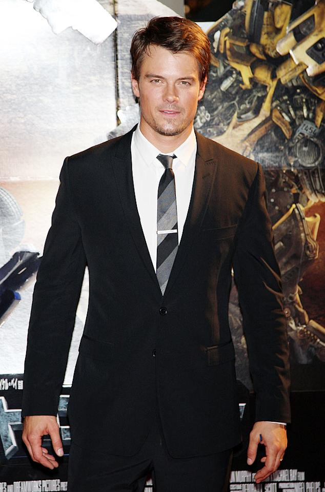 """Earlier this week, Fergie's leading man, Josh Duhamel, looked mighty fine in a sexy black suit, striped tie, and a hint of scruff at the Japanese premiere of """"Transformers: Revenge of the Fallen."""" Junko Kimura/<a href=""""http://www.gettyimages.com/"""" target=""""new"""">GettyImages.com</a> - June 8, 2009"""