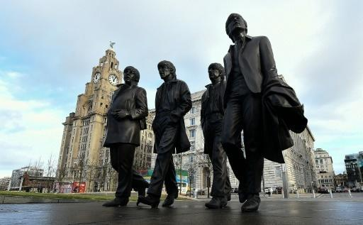 Lennon's sister unveils Beatles statue in Liverpool