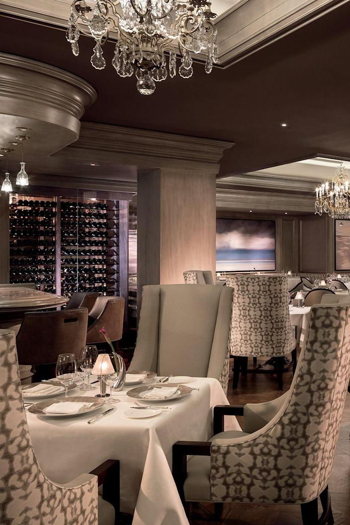 """<p><strong>Naples, Florida</strong></p><p>Floridians and hotel guests flock to this restaurant located inside The Ritz-Carlton. Living up to its name, <strong><a href=""""http://www.ritzcarlton.com/en/hotels/naples/naples-beach/dining/grill"""" rel=""""nofollow noopener"""" target=""""_blank"""" data-ylk=""""slk:The Grill"""" class=""""link rapid-noclick-resp"""">The Grill</a></strong> offers award-winning steaks, fresh seafood and an ambience that will make you take your time with every course. </p>"""
